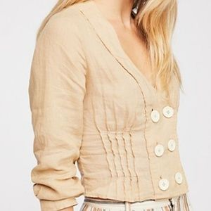Free People Praline All the Feels Top Sz S